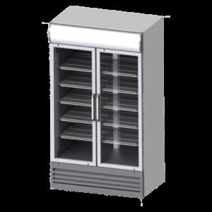 یخچال ویترینی مدل ZRS2-940H دو درب لولایی عرض 100 زاگرس